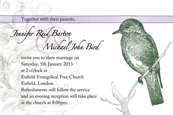 Bird-themed Wedding Invitations