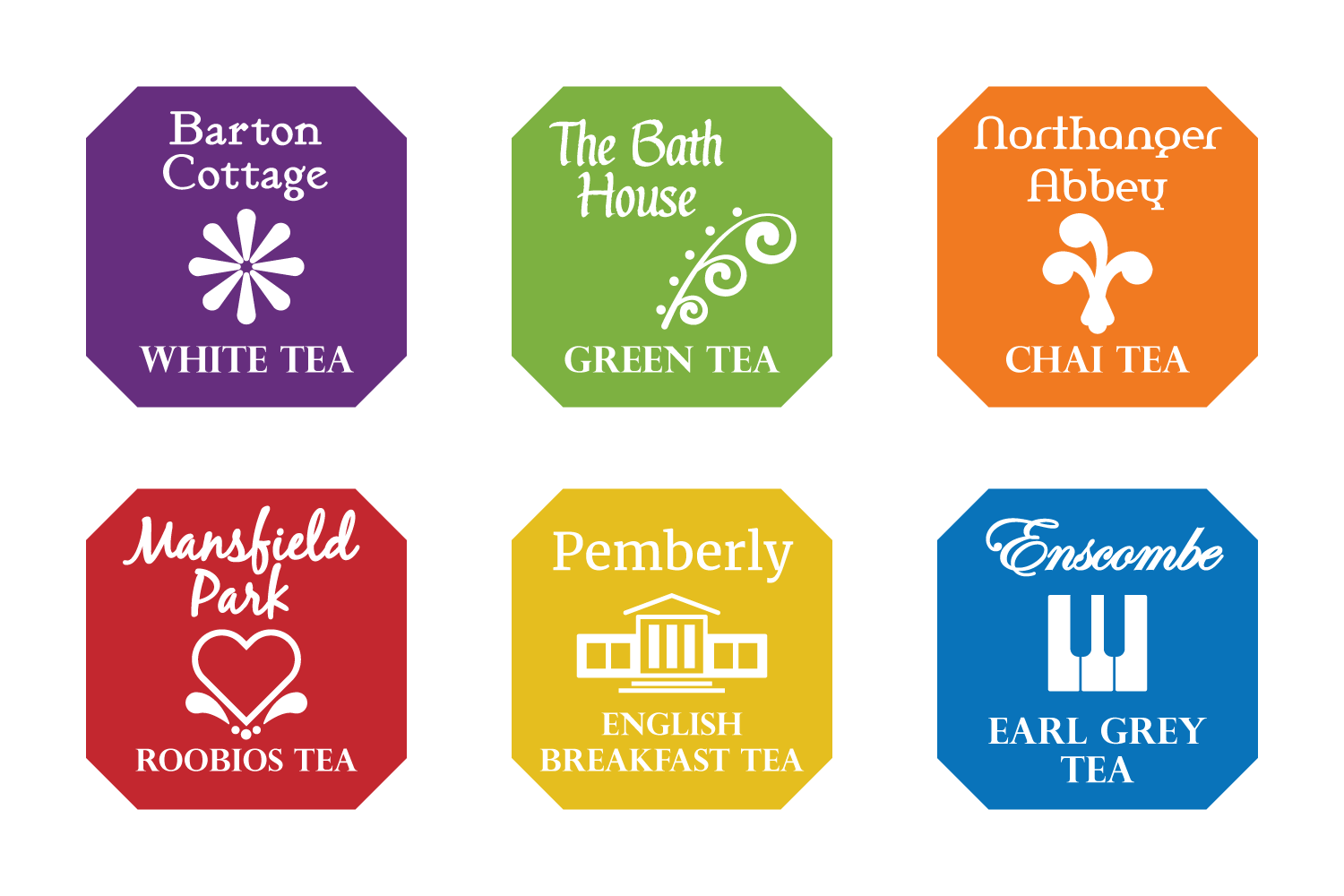 Jane Austin Tea Bag Labels