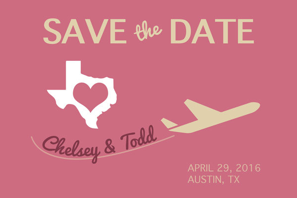 Save the Date Card - Texas