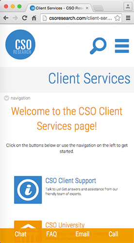 CSO Research website