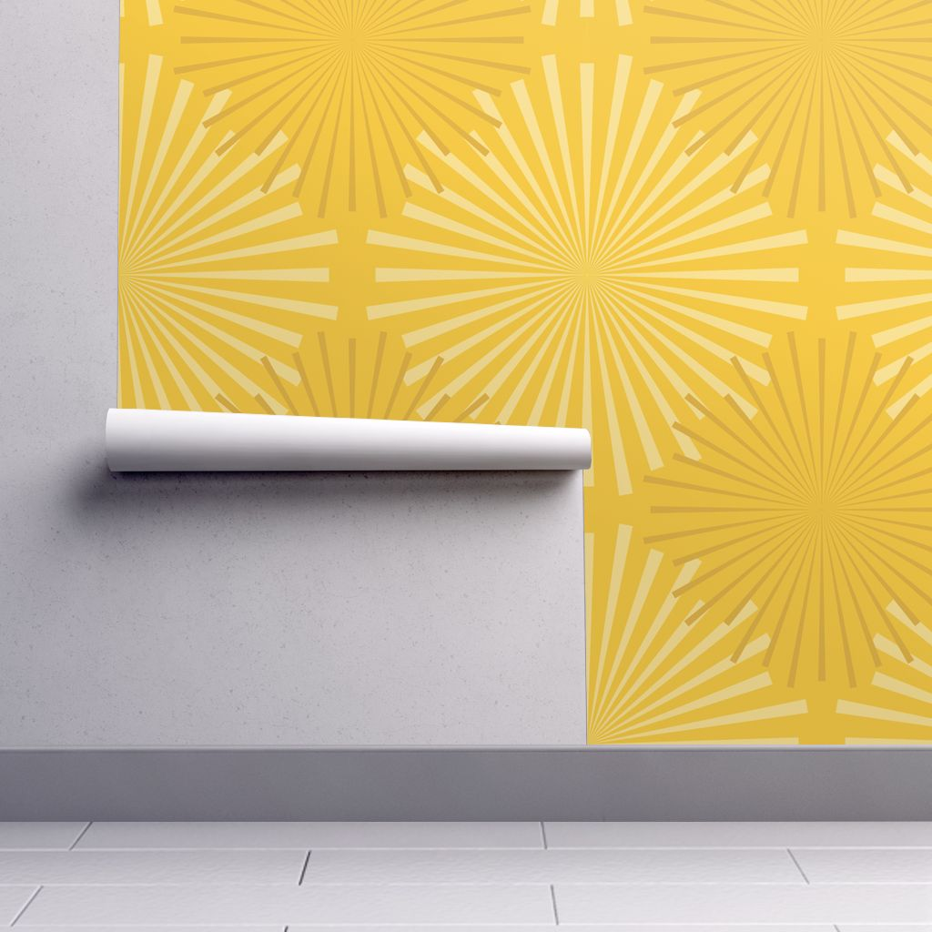 Modern Ocean: Sunburst (Yellow) wallpaper